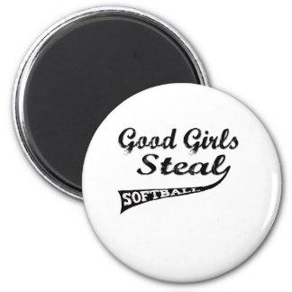Gute Mädchen stehlen (städtische Beschriftung) Kühlschrankmagnete