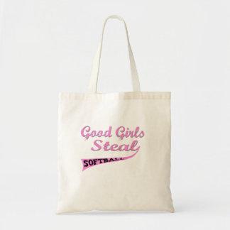Gute Mädchen stehlen (städtisches Rosa) Budget Stoffbeutel