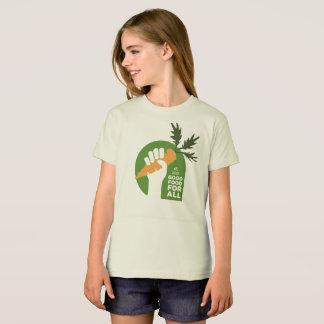 """""""Gute Nahrung für alles"""" Mädchen-Bio T-Shirt"""