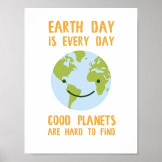Gute Planeten sind hart, Tag der Erde-Plakat zu Poster