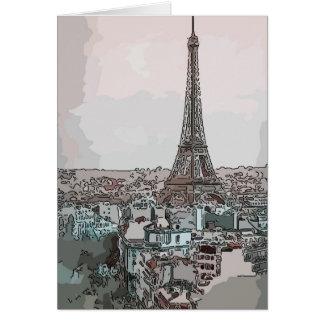 Gute Reise, Paris-Reise-Karte Grußkarte