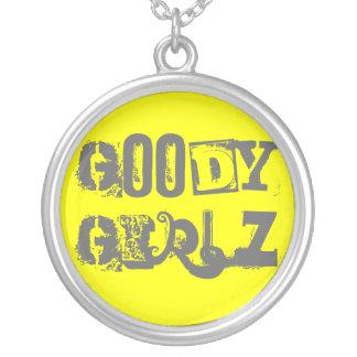 Gute Sachen Girlz Halsketten-Gelb und Silber Halskette Mit Rundem Anhänger