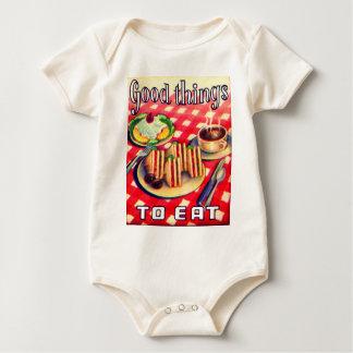 Gute Sachen zum zu essen Baby Strampler