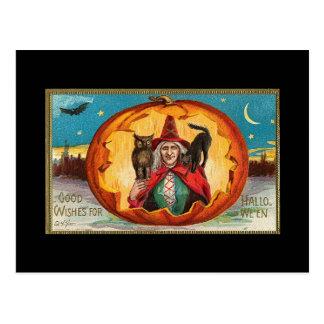 Gute Wunsch-Hexe Halloweens Postkarte