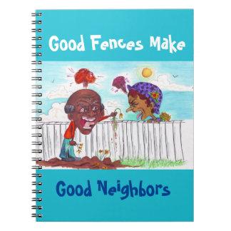 Gute Zäune stellen gute Nachbarn Notizbuch her Spiral Notizblock