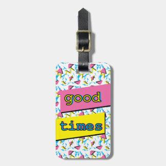 Gute Zeit-Retro Muster-Gewohnheits-Gepäckanhänger Kofferanhänger