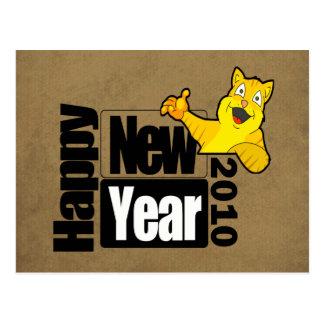 Guten Rutsch ins Neue Jahr 2010 Postkarte