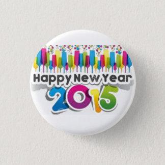 guten Rutsch ins Neue Jahr 2015 Runder Button 2,5 Cm