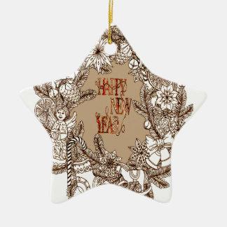 Guten Rutsch ins Neue Jahr 3 Keramik Ornament
