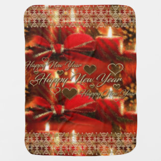 Guten Rutsch ins Neue Jahr-Baby-Decke Puckdecke