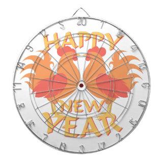 Guten Rutsch ins Neue Jahr Dartscheibe