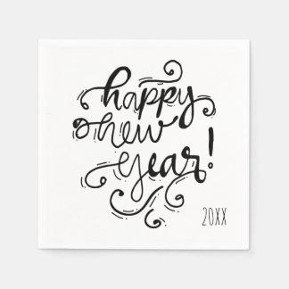 Guten Rutsch ins Neue Jahr-Feiertags-Serviette Serviette
