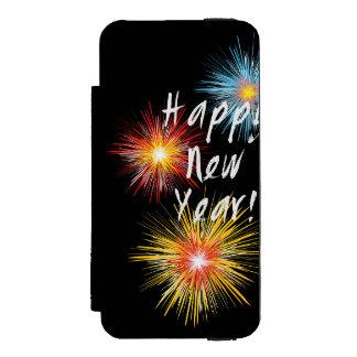 Guten Rutsch ins Neue Jahr-Feuerwerk Incipio Watson™ iPhone 5 Geldbörsen Hülle