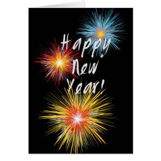 Guten Rutsch ins Neue Jahr-Feuerwerk Karte