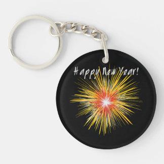 Guten Rutsch ins Neue Jahr-Feuerwerk Schlüsselanhänger