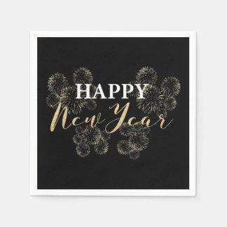 Guten Rutsch ins Neue Jahr-Goldserviette Serviette