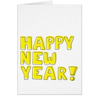 Guten Rutsch ins Neue Jahr! Grußkarte