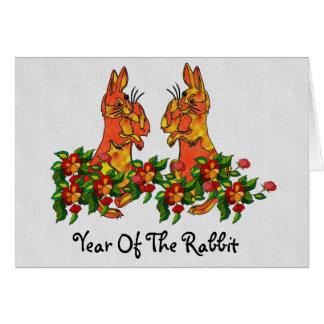 Guten Rutsch ins Neue Jahr-Kaninchen Karte