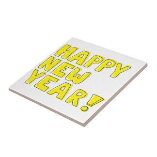 Guten Rutsch ins Neue Jahr! Kleine Quadratische Fliese