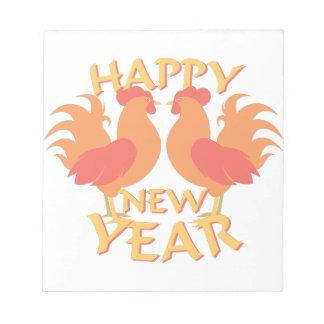 Guten Rutsch ins Neue Jahr Notizblock
