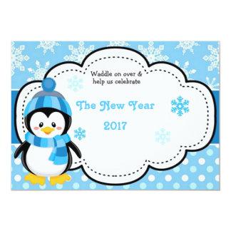 Guten Rutsch ins Neue Jahr-Pinguin 2017 Karte