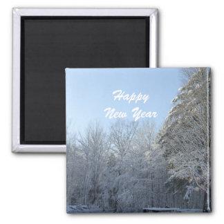 Guten Rutsch ins Neue Jahr Quadratischer Magnet