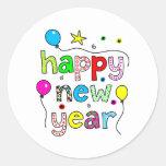 Guten Rutsch ins Neue Jahr Runder Aufkleber