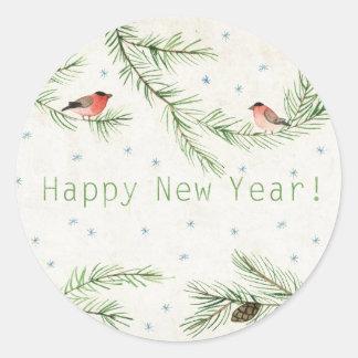 Guten Rutsch ins Neue Jahr! Runder Aufkleber