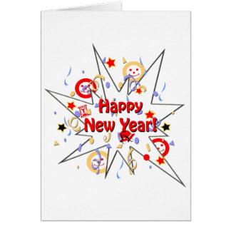 Guten Rutsch ins Neue Jahr-smiley-Spritzen Karte