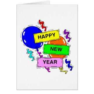 Guten Rutsch ins Neue Jahr steigt Gruß-Karte im Karte