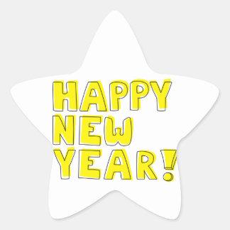 Guten Rutsch ins Neue Jahr! Stern Aufkleber