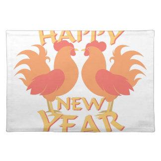Guten Rutsch ins Neue Jahr Stofftischset
