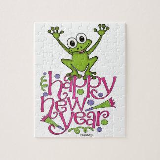 Guten Rutsch ins Neue Jahr von Frisky der Frosch Puzzle