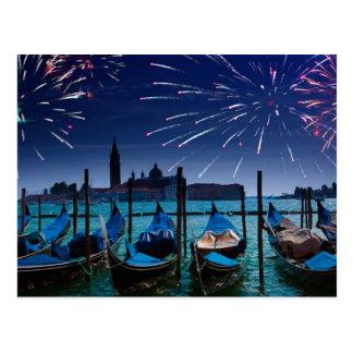 Guten Rutsch ins Neue Jahr von Venedig-Postkarte Postkarten