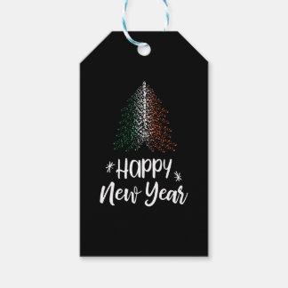 Guten Rutsch ins Neue Jahr-Weihnachtsbaum mit Geschenkanhänger