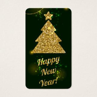Guten Rutsch ins Neue Jahr-Weihnachtsgrün-Feiertag Visitenkarte