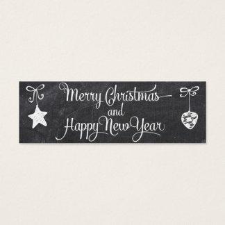 Guten Rutsch ins Neue Jahr - Weihnachtsumbau Mini Visitenkarte