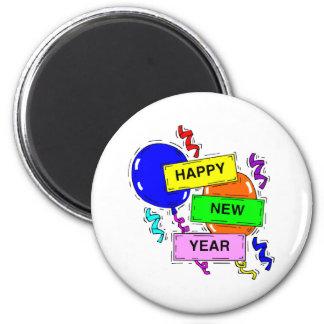 Guten Rutsch ins Neue Jahr-Zeichen Runder Magnet 5,7 Cm