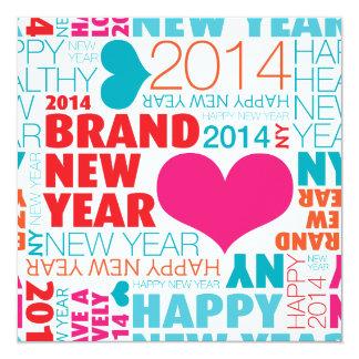 Guten Rutsch ins Neue Jahrpostkarte Quadratische 13,3 Cm Einladungskarte