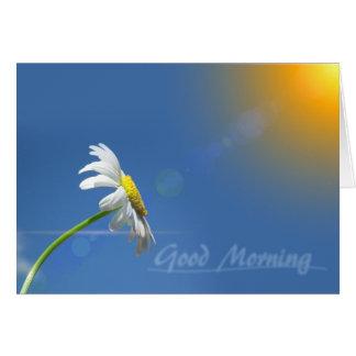 Gutenmorgen, Dank für das Holen des Sonnenscheins Karte
