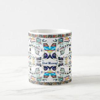 Gutenmorgen-Kolibri-Muster Kaffeetasse