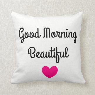 Gutenmorgen-schönes Wurfs-Kissen Kissen