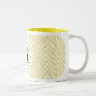 GUTENmorgen-Sonnenschein-Mehrsprachiges Zweifarbige Tasse
