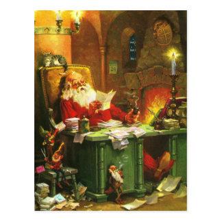 Guter alter Weihnachtsmann Postkarte