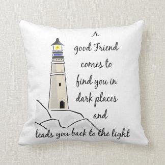 Guter Freund-inspirierend Zitat Kissen
