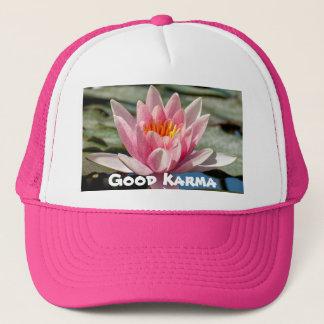 Guter Karma-Rosa-Golfspieler-Hut oder Truckerkappe
