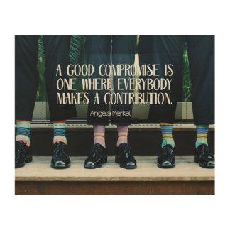 Guter Kompromiß Holzleinwand