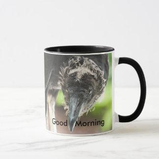 guter Morgen des Geiers Tasse