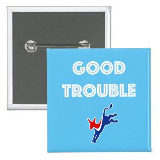 Guter Problem-Esel-Quadrat-Knopf Quadratischer Button 5,1 Cm