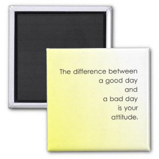 Guter Tag gegen schlechten Tag Quadratischer Magnet